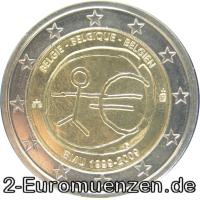übersicht Der 2 Euro Umlaufmünzen Und 2 Euro Gedenkmünzen Aus Belgien