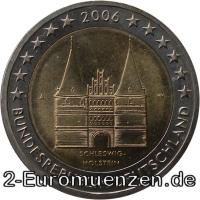 2 Euro Gedenkmünze Holstentor - Deutschland 2006