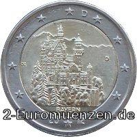 2 Euro Deutschland 2012 Bayern Schloss Neuschwanstein