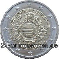 2 Euro Gedenkmünze 10 Jahre-Euro-Bargeld 2012