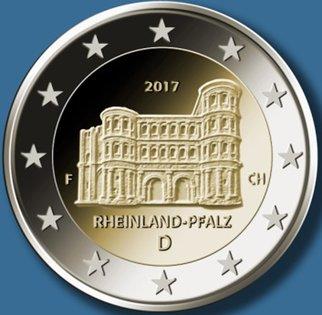 2 Euro Deutschland 2017 Rheinlandpfalz Porta Nigra