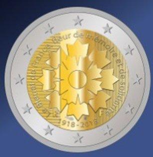 übersicht Der 2 Euro Umlaufmünzen Und 2 Euro Gedenkmünzen Aus Frankreich