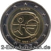 übersicht Der 2 Euro Umlaufmünzen Und 2 Euro Gedenkmünzen Aus Malta