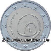 übersicht Der 2 Euro Umlaufmünzen Und 2 Euro Gedenkmünzen Aus Slowenien